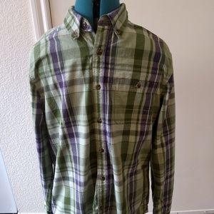 The North Face Mens Green Check Plaid Shirt